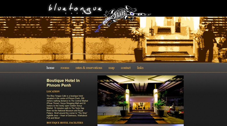 Web Design: Blue Tongue