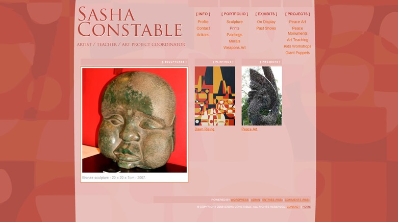 Web Design: Sasha Constable