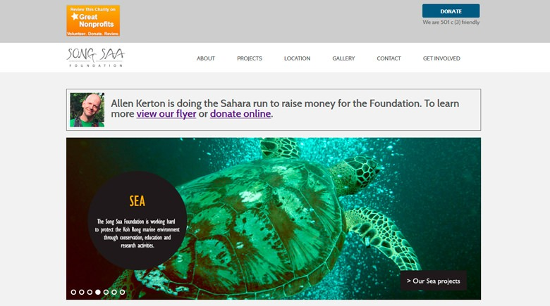 Web Design: Song Saa Foundation